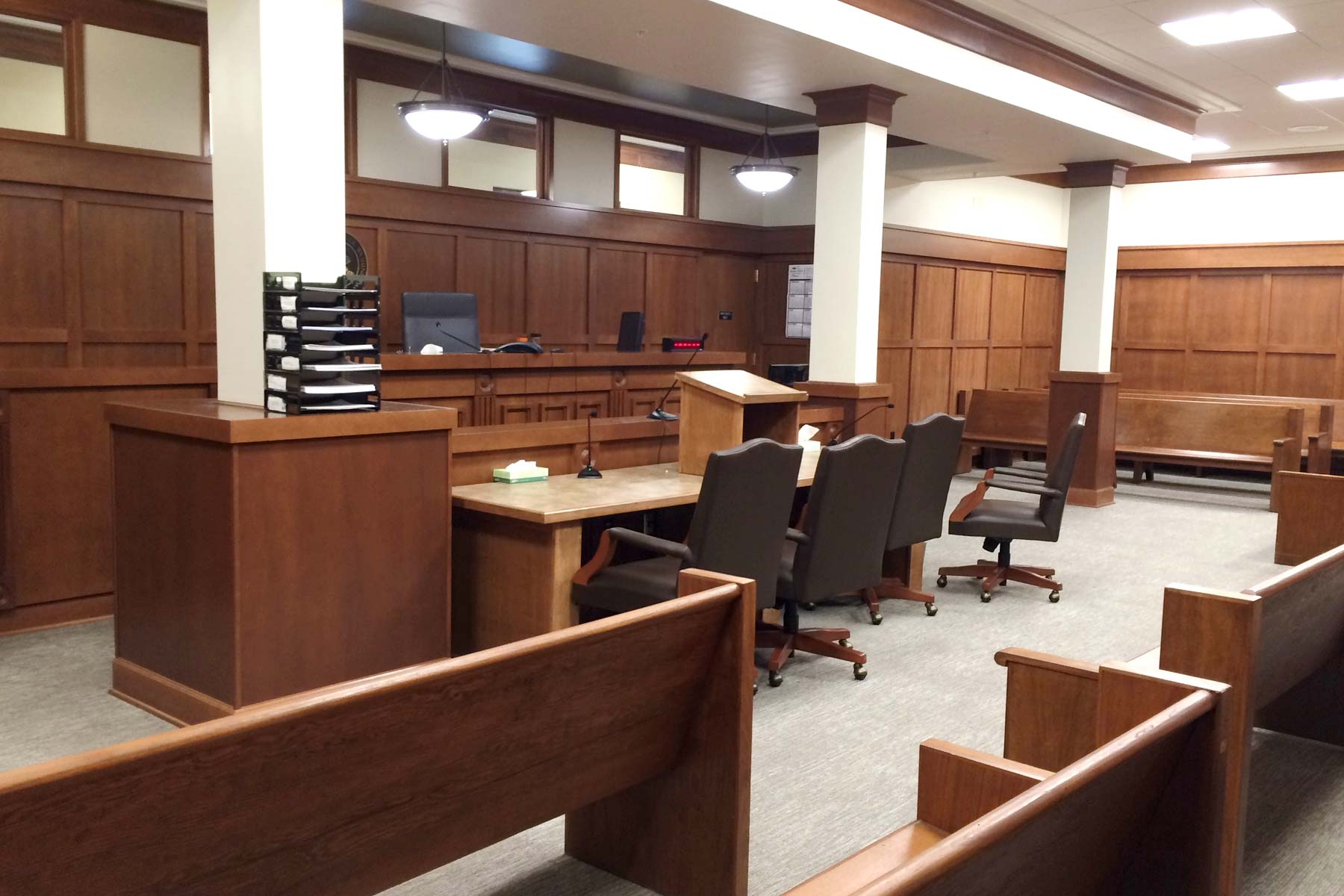 Mountain Millwork Courtroom